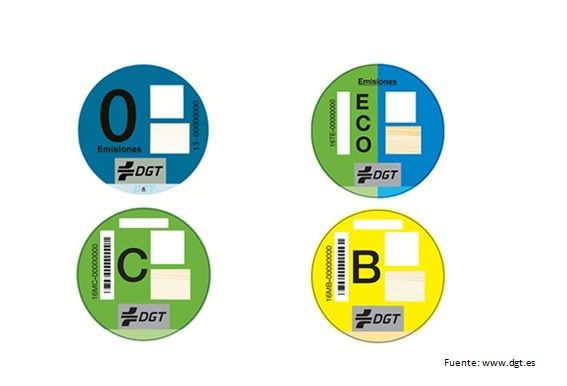 etiquetas clasificacion vehiculos